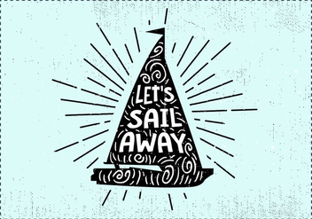 Free Hand Drawn Sail Background - Kostenloses vector #419051