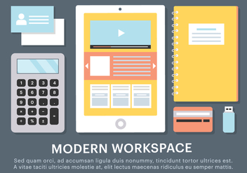 Free Business Workspace Vector Elements - Kostenloses vector #419071