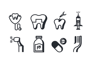 Dentist Vector Icons - Free vector #419111