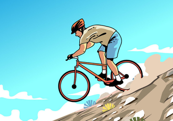 Mountain Bike Trail Vector - Free vector #419141