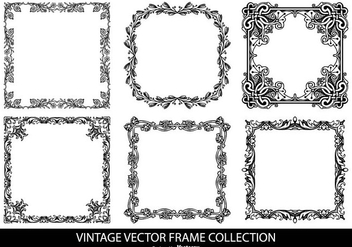 Vintage Vector Frames Collection - бесплатный vector #419211