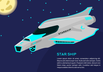 Starship Background - Kostenloses vector #419221