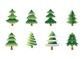 Vector Collection of Christmas Trees or Sapin - Free vector #419241