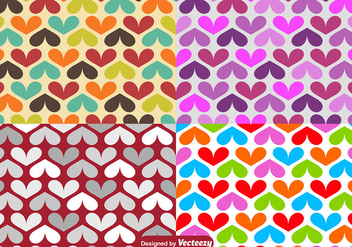 Vector Hearts Seamless Pattern - Free vector #419301