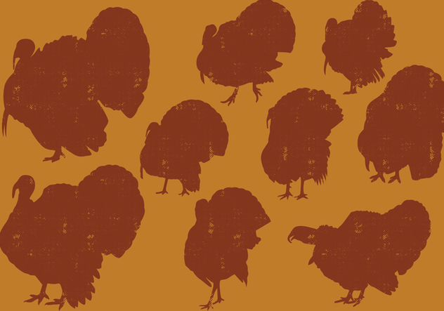 Turkeys Silhouettes - Free vector #419321
