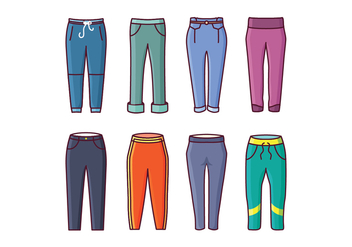 Free Sweatpants Vector Pack - бесплатный vector #419331