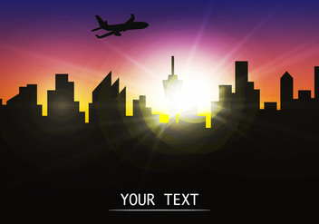 Silhouette Of City Building Template - vector gratuit #419391