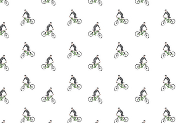 Free Bicicleta Seamless Pattern Vector Illustration - бесплатный vector #419411