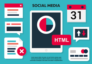 Free Social Media Vector Illustration - vector gratuit #419441