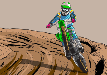 Dirt Bikes Trail Vector - бесплатный vector #419471