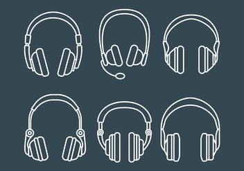 Free Head Phone Icons Vector - Kostenloses vector #419731