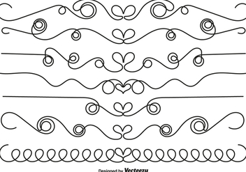 Ornamental Borders With Hearts - vector #419761 gratis