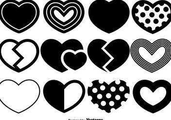 Vector Hearts Icons Set - vector gratuit #419771