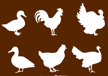 Silhouette Fowl Collection Vector - бесплатный vector #419841