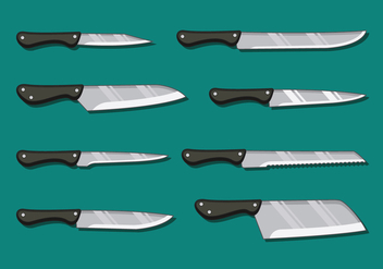 Kitchen Knife Pack - Kostenloses vector #419871