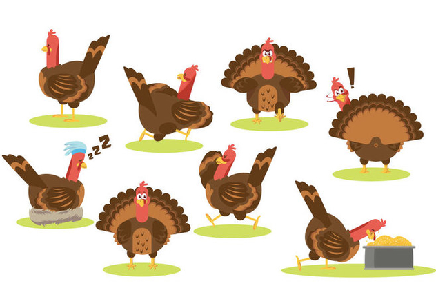 Free Cartoon Turkey Vector - vector gratuit #419891