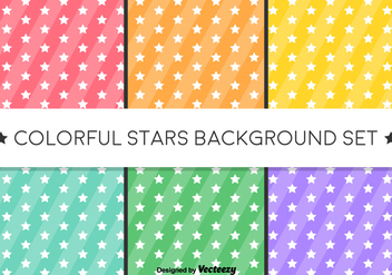 Vector Stars Background - Stars Patterns - vector gratuit #419901