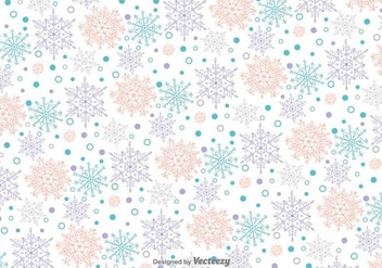 Snowflakes Doodles Vector Pattern - Free vector #419941