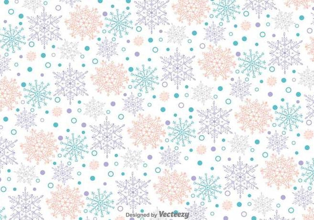 Snowflakes Doodles Vector Pattern - бесплатный vector #419941