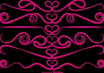 Vector Ornamental Love Dividers - vector gratuit #419991