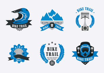 Bike Trail Label Illustration Vector - бесплатный vector #420021