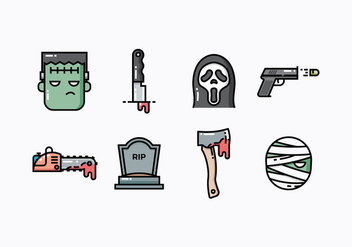 Free Thriller And Suspense Movie Icons - vector gratuit #420041