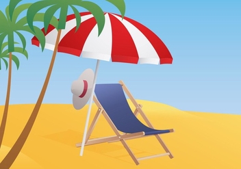 Deck Chair Illustration - Free vector #420081