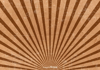 Brown Grunge Sunburst Background - Free vector #420111