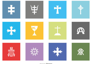Religious Symbol Icon Collection - Free vector #420191