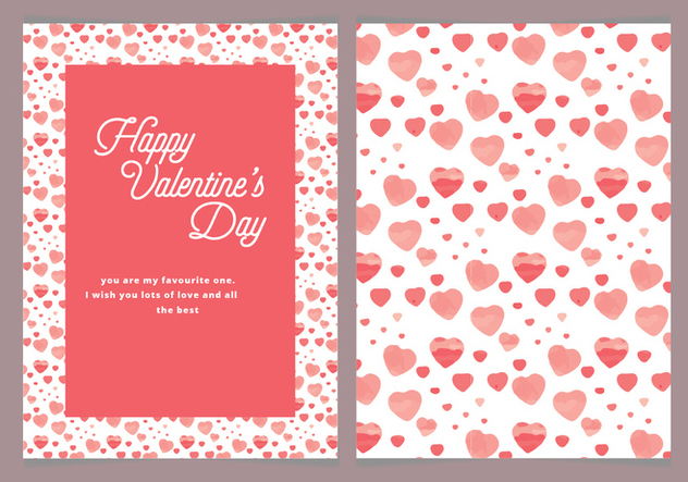 Vector Hearts Valentine's Day Card - Kostenloses vector #420231