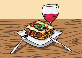 Illustration Of Lasagna - vector #420311 gratis