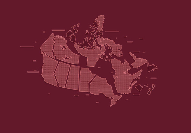 State Outlines Canada Vector - бесплатный vector #420341