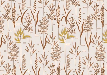 Sea Oats Pattern Vector - Free vector #420351