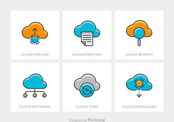 Free Cloud Technology Vector Icons - бесплатный vector #420401
