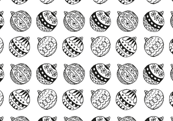 Free Christmas Hand Drawn Pattern Background - vector #420491 gratis