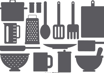 Kitchen Element Vector Shapes - vector #420501 gratis