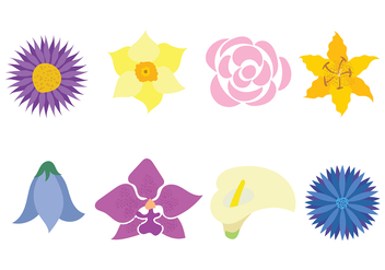Flower Icon Vector - Free vector #420521