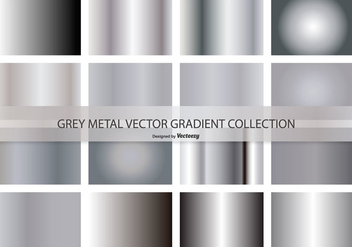 Metal Grey Vector Gradient Collection - vector #420551 gratis