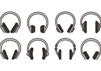 Set Of Head Phone Icons - Free vector #420651
