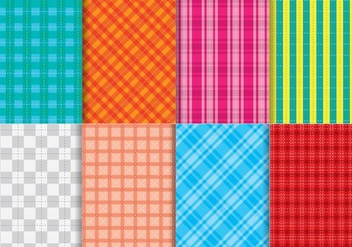 Bright Flannel Pattern Vectors - Free vector #420661