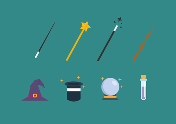 Free Magician Elements Vector Icons - Free vector #420711