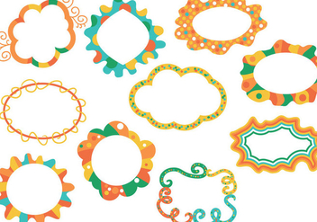 Free Funky Frames Vectors - Free vector #420721