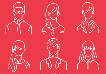 People Headshot Line Vector - vector #420761 gratis