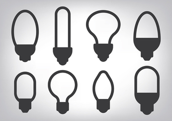 Simple Light Ampoule Icons Vector - бесплатный vector #420791