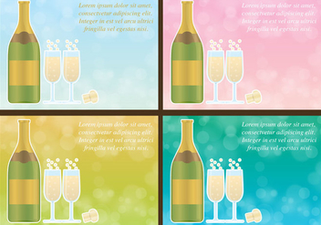Champagne Vector Background - vector gratuit #420861
