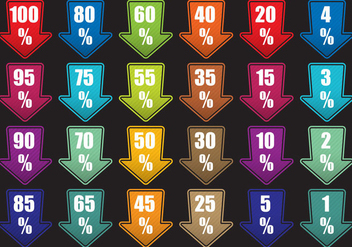 Arrow Labels With Percents - vector #420901 gratis
