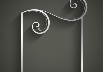 Floral frame silver background - vector #420941 gratis