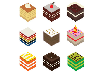 Cake Slice Vector Pack - бесплатный vector #420951