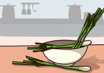 Lemongrass Ingredients in Kitchen - Kostenloses vector #420991