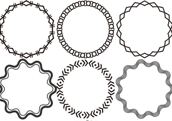 Round Decorative Vector Frames - vector gratuit #421001